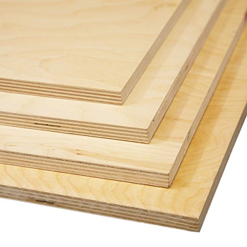 Birch Plywood 4mm | 1220mm x 610mm (4ft x 2ft), Package Quantity: 1 sheet