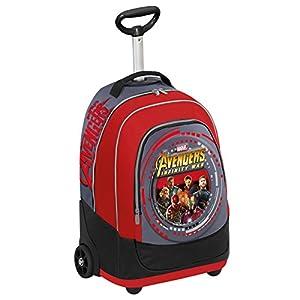51i9x0BbKHL. SS300  - Big Trolley Marvel , Avengers Infinity War , Rojo Gris  , 30 Lt , 2in1 Mochila con Ruedas , Escuela y Viaje