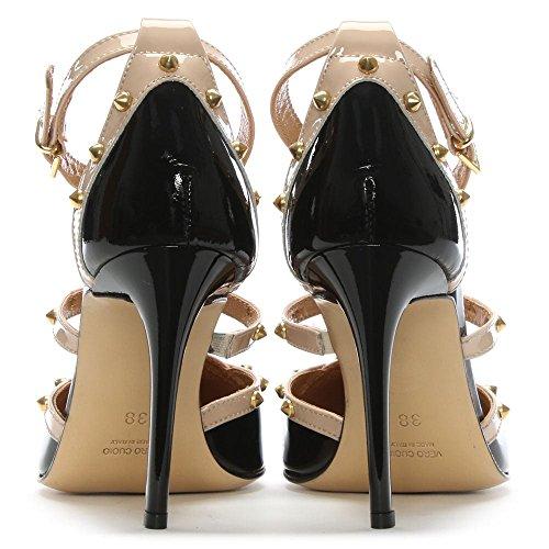 Black Tiff Studded Patent Beige Black Patent Shoe Daniel Court qawzxT5w4