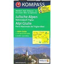 Alpes Juliennes - NP Triglav - Bled (Slovénie) 1:25.000 carte de randonnée topographique # 064 KOMPASS