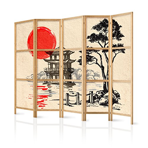 murando - Biombo XXL Japan Oriente Zen 225x171 cm - 5 Paneles - Lienzo