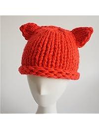 dealglad® automne hiver bébé nouveau-né bébé fille garçon mignon oreilles de chat Cartoon crochet à tricoter Chapeau chaud bouchon