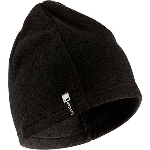 QUECHUA FORCLAZ 20 FLEECE HIKING HAT, BLACK