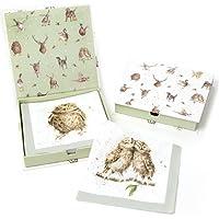Wrendale Designs confezione da 20 pezzi, motivo: gufi e scritta