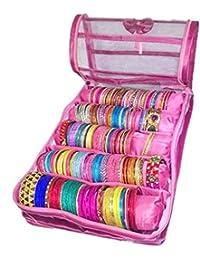 Atorakushon® Satin 5 Rods Bangle Box,Bangle Organiser/Bangle Box Bracelet,Watch Case Jewellery Box Vanity Pouch...