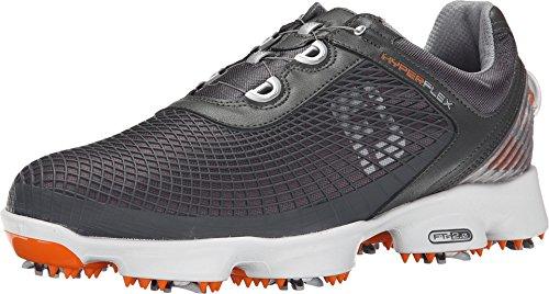 Scarpe da Golf Footjoy Hyperflex Antracite/Arancione Boa Raccordo, Uomo, Grey, 9 UK