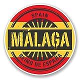 2 x 30cm/300 mm Málaga España Etiqueta autoadhesiva de vinilo adhesivo portátil de viaje equipaje signo coche divertido #6016