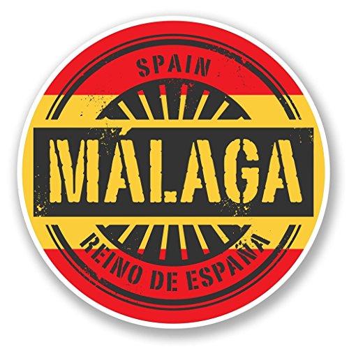 Preisvergleich Produktbild 2x Malaga Spanien Vinyl Aufkleber Aufkleber Laptop Reise Gepäck Auto Ipad Schild Fun # 6016 - 10cm/100mm Wide