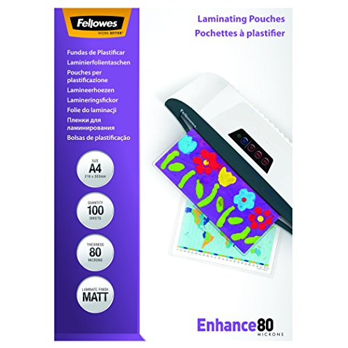 fellowes-a4-laminating-pouch-80-micron-matt-pack-of-100