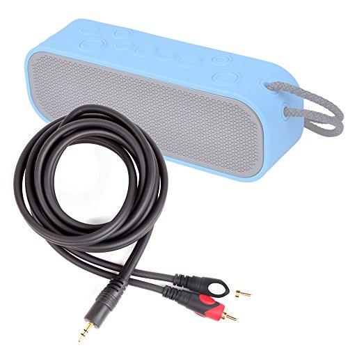 DURAGADGET Excelente Cable De Audio Minijack / RCA Para Altavoces Avantree BTSP-008 / Denver SP-6 / EasyACC Sound Cup / Ecandy EA892 / IceFox BS / iClever IC-BTS07 / KnZ Technology GoDuo / Lamax Beat Sounder SO-1 / Music Angel 1dai XCYX / VTin v0517-a - Bañado En Oro