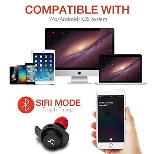 HAVIT Bluetooth Kabellose Kopfhörer in Ear V5.0, Sport Ohrhörer, IPX5 Wasserdicht, 18 Stunden Abspielzeit, Aufbewahrungsbox mit Ladefunktion,Eingebautes Mikrofon für iPhone,Samsung und Huawei, HTC - 6