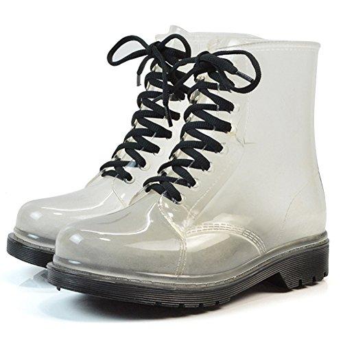 Damen Regenstiefel Kurzschaft Stiefel Gummistiefel Gummistiefeletten Boots, Outry Rain Boot Regenstiefelette Gummistiefelette Reitstiefelette Stiefel (EU38, Stiefel-Schwarz) (Hunter Frauen Kurze Regen Stiefel)