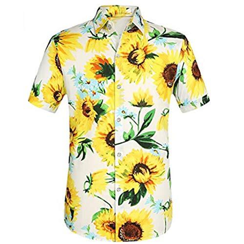 Bester Vater schöne Sonnenblume T-Shirt Sommer Oberteile Hawaii Romantische T-Shirt Damenmode Familie Julzwe Tolle Familie Shirt Vater Mütter und Tochter Familie Sommerkleid Sonnenblume Süße Shirt