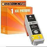 Gorilla-Ink® 1x Tinten-Patrone XXL GI2621 kompatibel für Epson Schwarz Expression Premium XP-510 XP-520 XP-600 XP-600 Series XP-605 XP-610 XP-610 Series XP-615