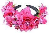 Wunderschöner Blumen Haarreif Mia mit Strass Pink