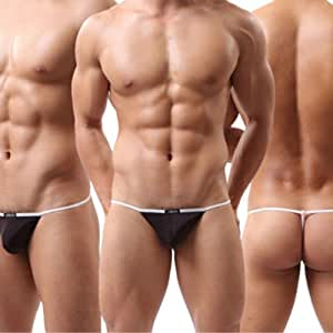 Sexy Men Smooth G-String Underwears Thongs T-back Brief Bikini Pouch different sizes New arrival