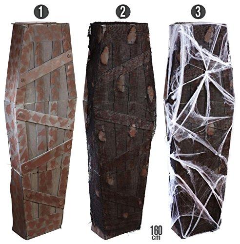 Widmann 01421 - Sarg mit Netzgewebe und Spinnennetz, 160 cm - 3