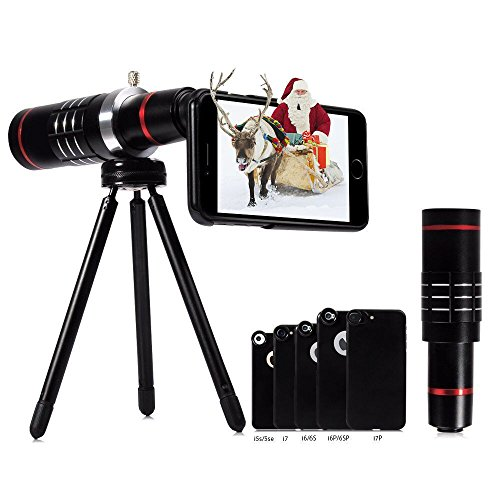 Evershop 18 x Telefonzoomobjektiv 2800m, HD-Teleobjektiv-Handykamera-Objektivkits mit...