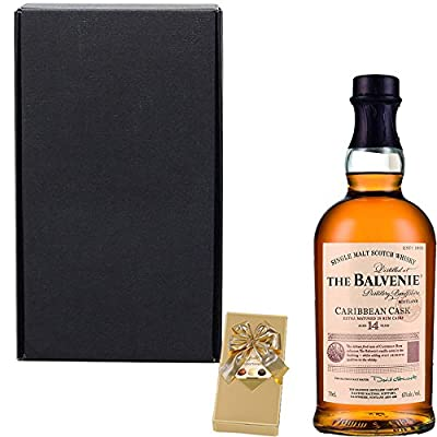 The Balvenie 14 Year Old Caribbean Cask Single Malt Scotch Whisky Fathers Day Gift Set With Handcrafted Gifts2Drink Tag