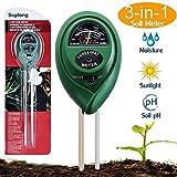 Suplong Soil Tester Moisture Meter 3 in 1 Plant Soil Tester Kit With