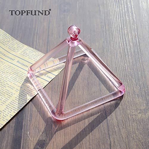 Topfund campane tibetane di colore viola campana di cristallo piramide 10,2cm (Suede adesivo incluso)