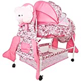 Baybee Hive Premium Baby Swing Cradle Cum Bassinet With Detachable Carry Cot & Storage Space