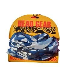 Blue Camo Camouflage Pattern Multifunctional Necker Neck Warmer Head Gear One Size