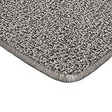 Floori Shaggy Hochflor Teppich - 100x150cm - moderner Wohnzimmerteppich - grau/anthrazit