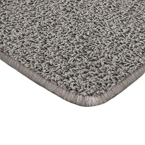 Floori Shaggy Hochflor Teppich - 133x190cm - moderner Wohnzimmerteppich - grau/anthrazit (Boden-teppich Getuftet)