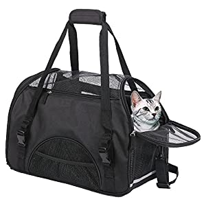 Wanfei-Cat-Carrier-Airline-Approved-Expandable-Pet-Carrier-Bag-Soft-Dog-Cat-Travel-Carrier-with-Two-Side-Extension-and-Plush-Mat-for-Kittens-and-Puppies-Used-for-Car-and-Luggage