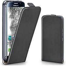 Bolso OneFlow para funda Samsung Galaxy S6 Cubierta con imán | Estuche Flip Case Funda móvil plegable | Bolso móvil protección móvil paragolpes funda protectora con cubierta en Nero
