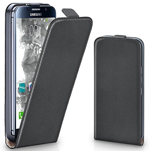 moex Samsung Galaxy S7 | Hülle Dunkel-Grau 360° Klapp-Hülle Etui Thin Handytasche Dünn Handyhülle für Samsung Galaxy S7 Case Flip Cover Schutzhülle Kunst-Leder Tasche