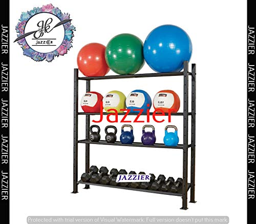Jazzier Multi Weight Storage Rack (Without Dumbbells, Kettlebell, Gym Ball, and Much More) WR-01