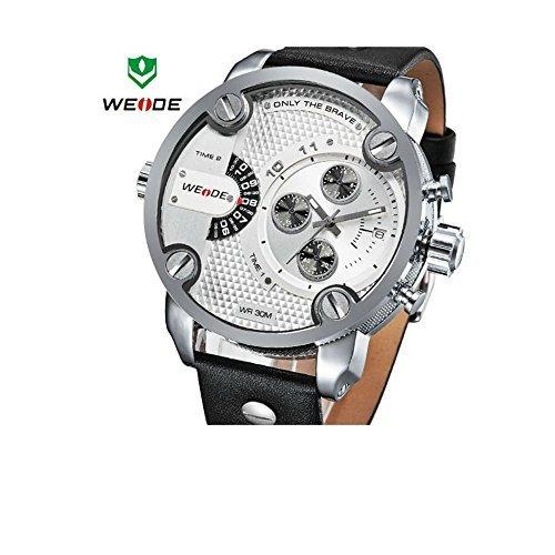 Gaga Deal. Weide Uhren Herren Military Quarz Sport Watch Luxus Marke Leder Trageriemen Watch Wasserdichte Oversize Armbanduhr