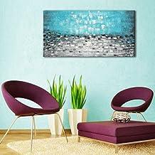 Raybre Art 100% Hecho a mano Cuadro en Lienzo 61*122cm Pintura al óleo Abstracta Lámina sin Bastidor - Enorme Arte Cuadros Modernos Baratos Grandes - Decorativo Mar para