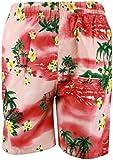 New True Face Mens Multi Pockets Hawaiian Shorts S- 2XL For Holiday Beach Sports