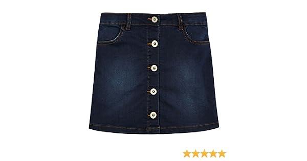 Bluezoo Kids Girls/' Dark Blue Denim /'The Adventure Ready/' A-Line Skirt