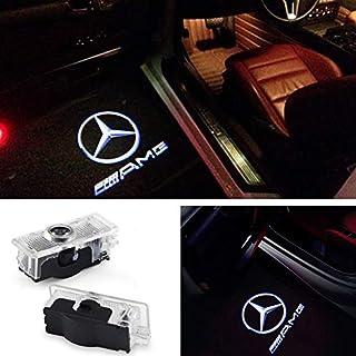 ZNYSTAR Einstiegsbeleuchtung LED Tür Lampe Türbeleuchtung Ghost Shadow Logo Autotür Logo 1 Paar (Benz CLA-AMG)
