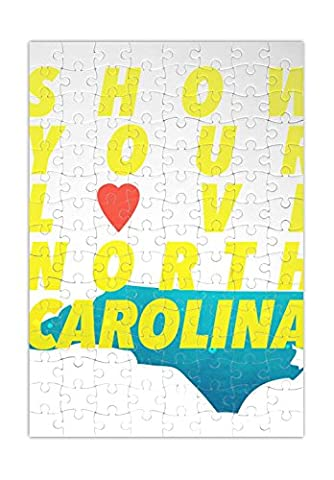 Show Your Love North Carolina Puzzle Labyrinth Jigsaw Puzzle Maze| Unique And Custom Learning Games For Kids & Adults| Learning Made Fun With Custom Design & Printed Jigsaw Puzzles