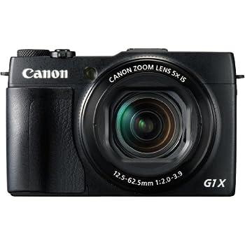 """Canon Powershot G1X MARK II - Cámara compacta de 12.8 Mp (pantalla de 3"""", zoom óptico 5x, estabilizador digital, vídeo Full HD, GPS a través de móvil, WiFi), negro"""