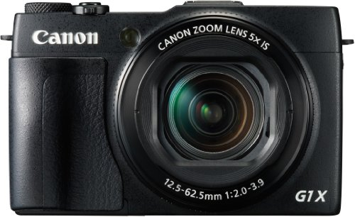 Canon PowerShot G1X Mark II Digitalkamera (12,8 MP, CMOS Sensor, 5-fach optischer Zoom, 1:2-3, 9, 24-mm Weitwinkel, Full-HD) schwarz Digitaler Zoom, Cmos-sensor