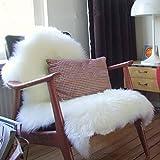 Alfombra de felpa, súper suave, piel de oveja sintética, cubierta cálida para el pelo, alfombra de asiento de moqueta, alfombrilla de absorción de agua para salón, dormitorio, 60 x 40 cm