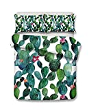 Blumen Kaktus 3D Bettwäsche-Set Print Bettbezug Set lebensecht Bett Blatt # 2, 100% Polyester, Einzelbett