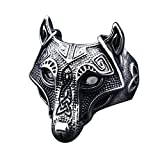 IVERIRMIN Viking Pirate Mythology Alloy Retro Wolf Head Anillo dominante para Hombres 8