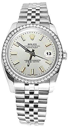 bianco-quadrante-bastone-diamante-lunetta-rolex-datejust-bracciale-orologio-ss