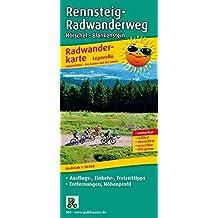 Rennsteig-Radwanderweg: Leporello Radtourenkarte mit Ausflugszielen, Einkehr- und Freizeittipps, reissfest, wetterfest, abwischbar, GPS-genau. 1:50000 (Leporello Radtourenkarte / LEP-RK)