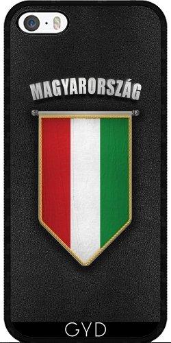 Leder Flip Case Tasche Hülle für Apple iPhone 4/4S - Ungarn Wimpel Flagge by Carsten Reisinger Silicone