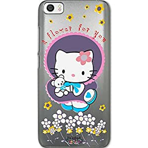 Inkdad Xiaomi Mi5 Hello Kitty Cute design Printed Phone Cover & Case with Frost Ice Finish & Free Screen Guard