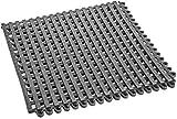 car-tuningsde Profi Bodenrost Duschmatte Schwimmbad Sauna Antirutschmatte 30x30 cm Beliebig aneinandersteckbar (Grau)