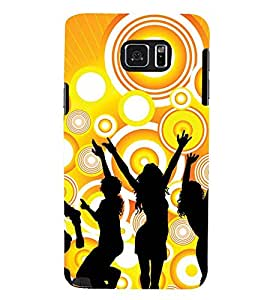 Printvisa Vector Party Celebration Back Case Cover for Samsung Galaxy Note 5 N920